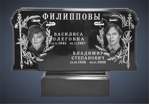 Орнамент на надгробие Лампадка из габбро-диабаза Каширская